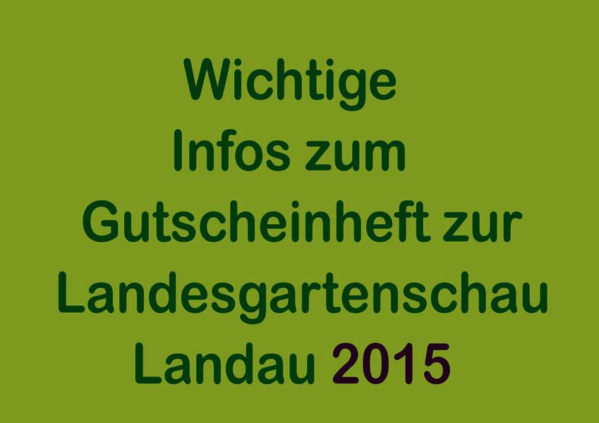 Die lokale wichtige infos zur landesgartenschau 2015 - Landesgartenschau landau ...